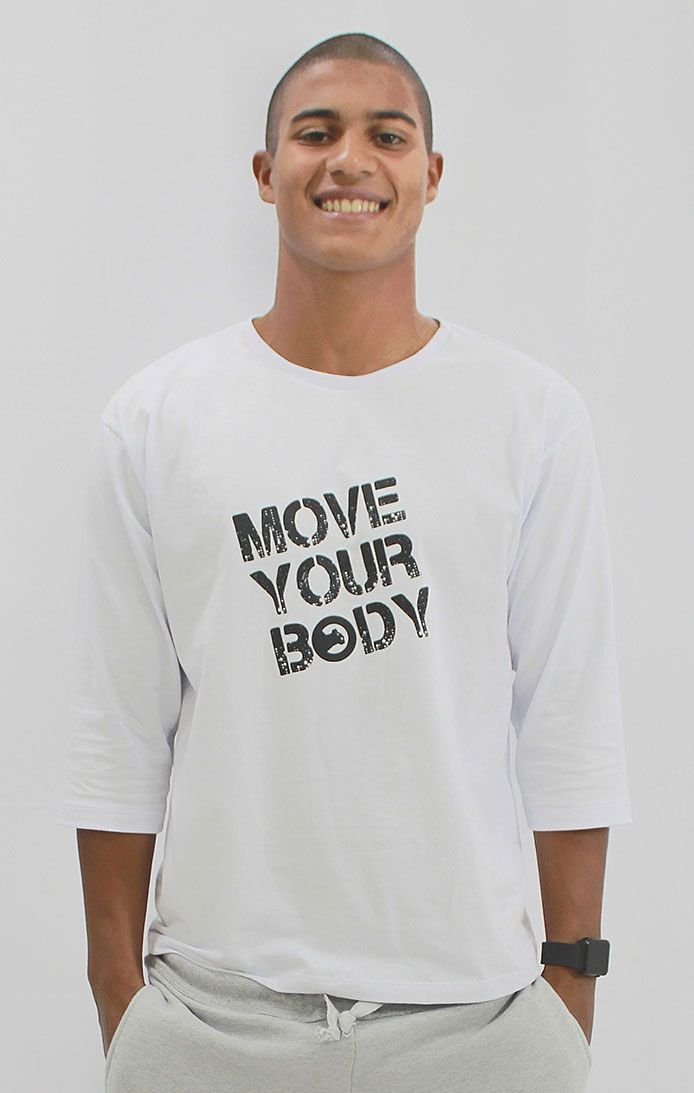 Camiseta Manga 7/8 - Branca