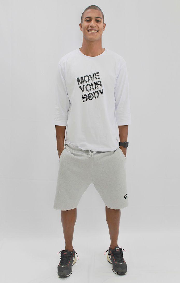 Camiseta 3/4 - Masculina
