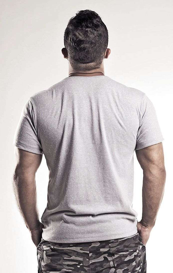 Camiseta Algodão Cinza Gatto Masculina