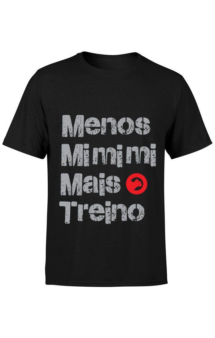 Camiseta Menos Mimimi - Preta