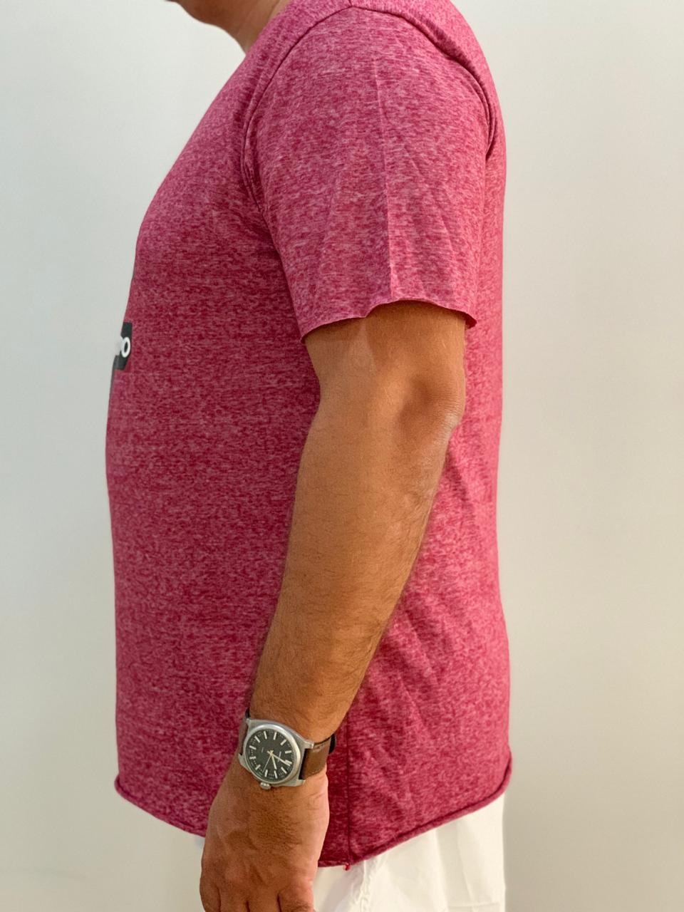 camiseta masculina corte a fio