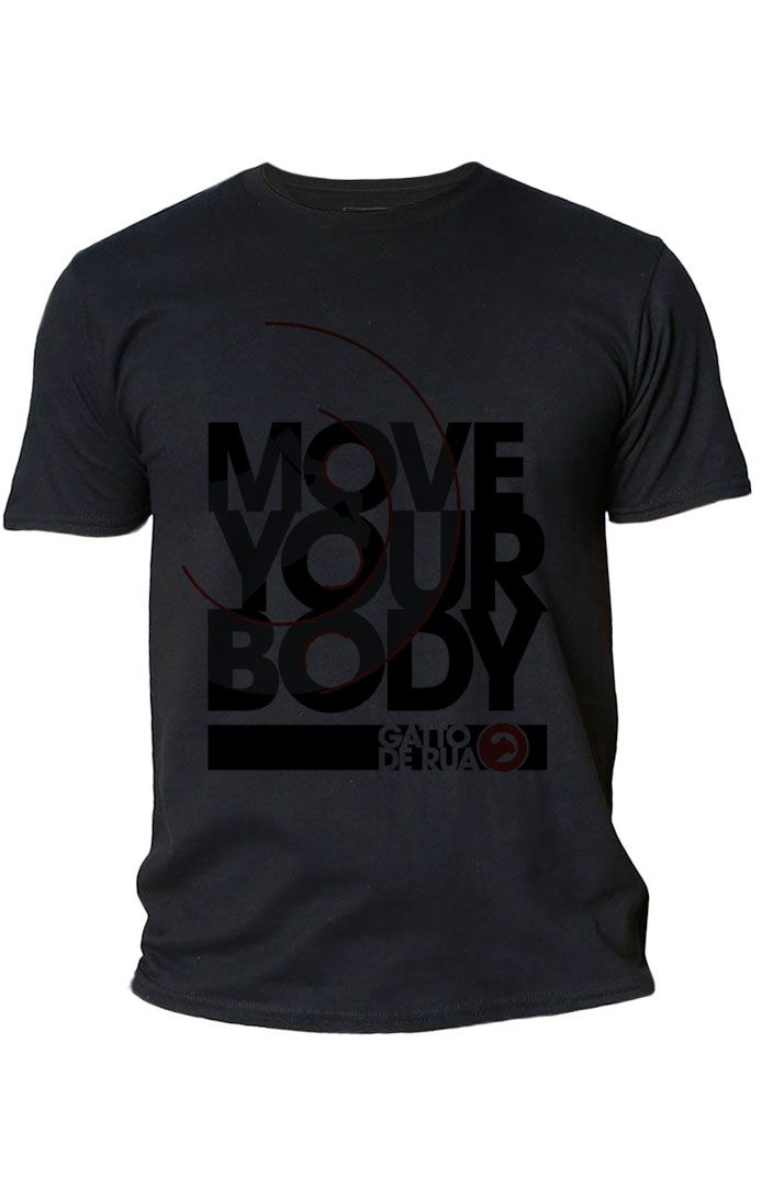 Camiseta masculina estampada de algodão  Move Your Body