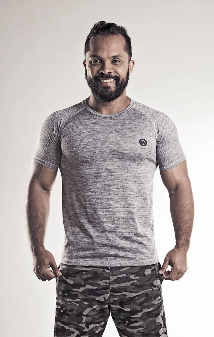 Camiseta Raglan Dry Mescla Tecno