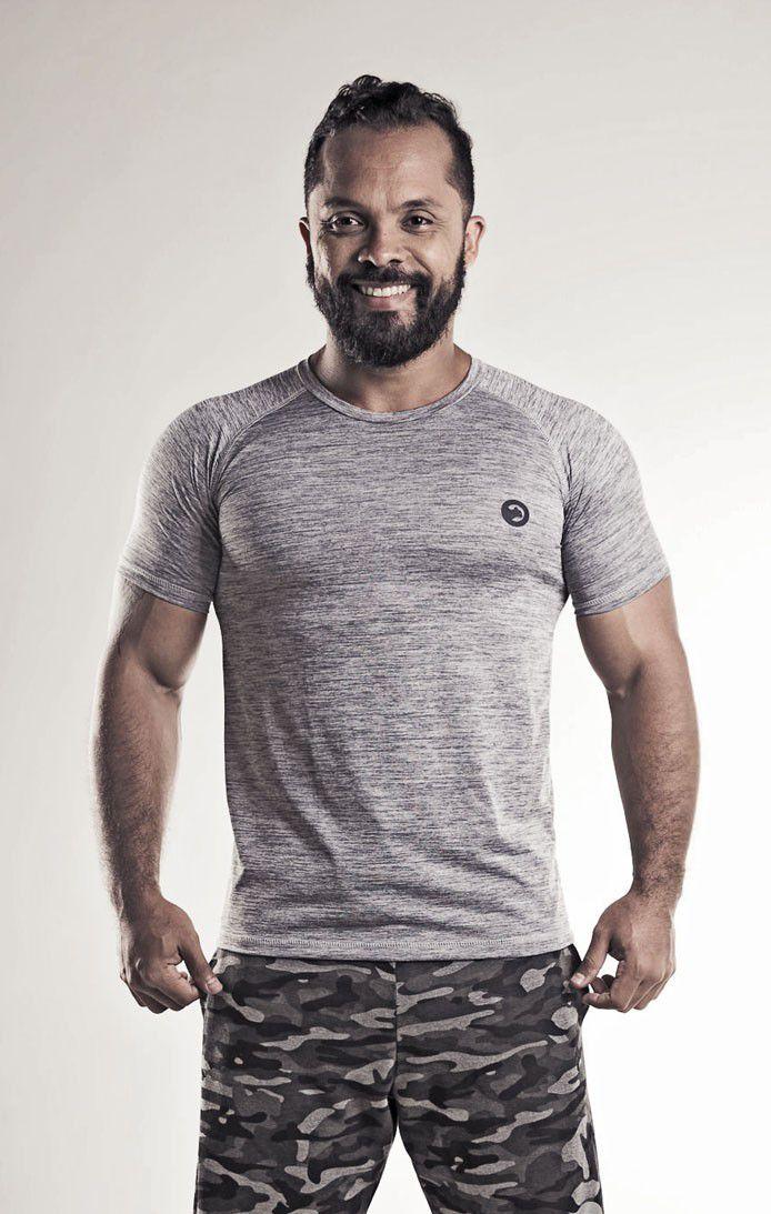 Camiseta Dry Fit Mescla Masculina