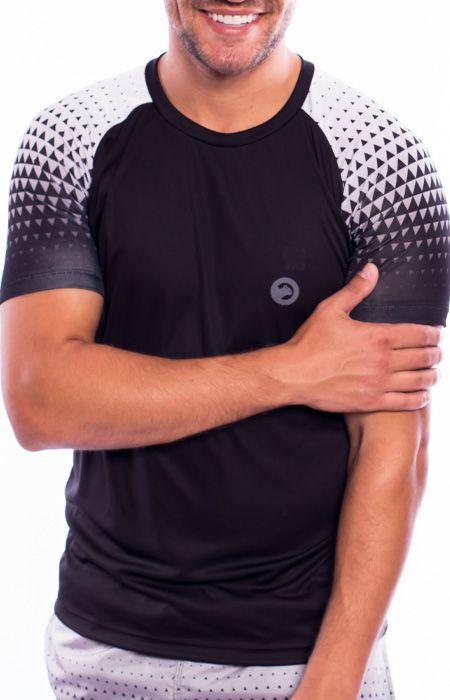 Camiseta Dry Fit Raglan Geometric Masculina