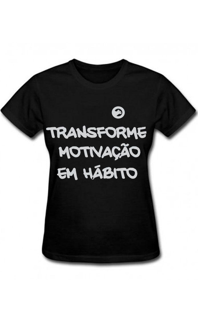 Camiseta algodão frases  Transforme -