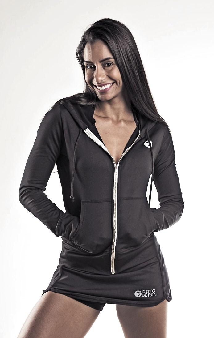 casaco feminino com zíper