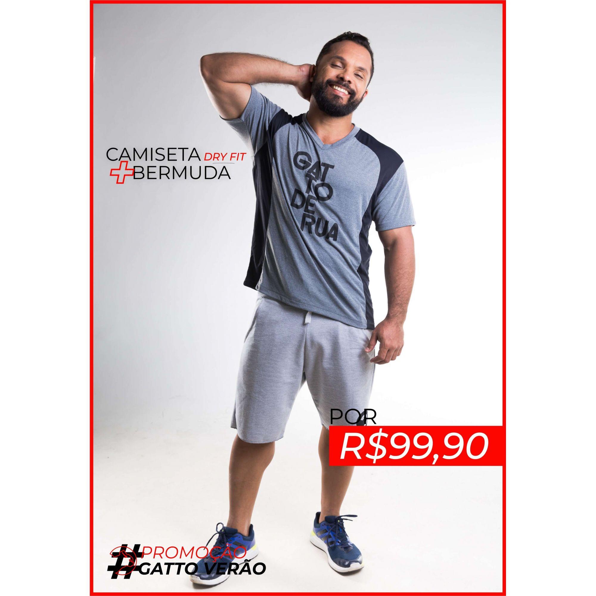 Conjunto Camiseta Dry Fit e Bermuda - GATTOVERAO