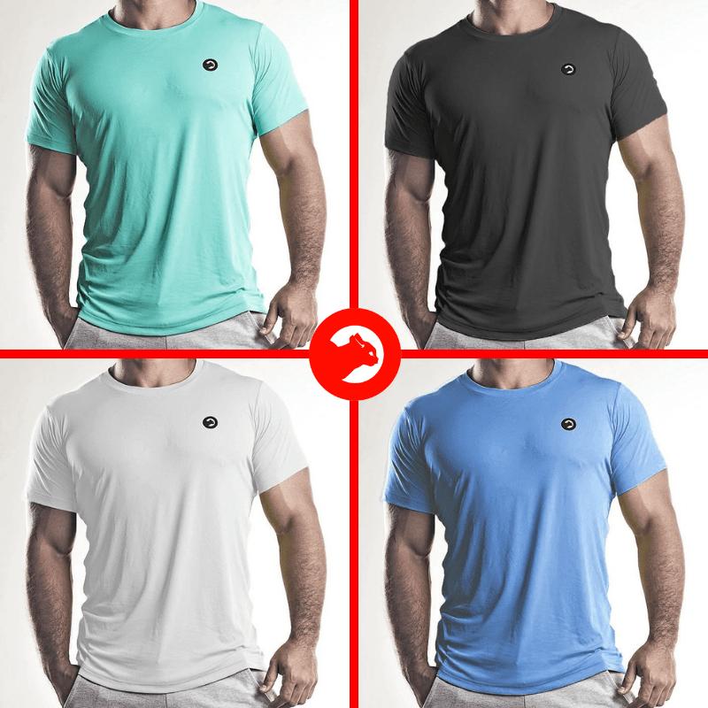 Kit 04 Camisetas Dry Fit - Masculino