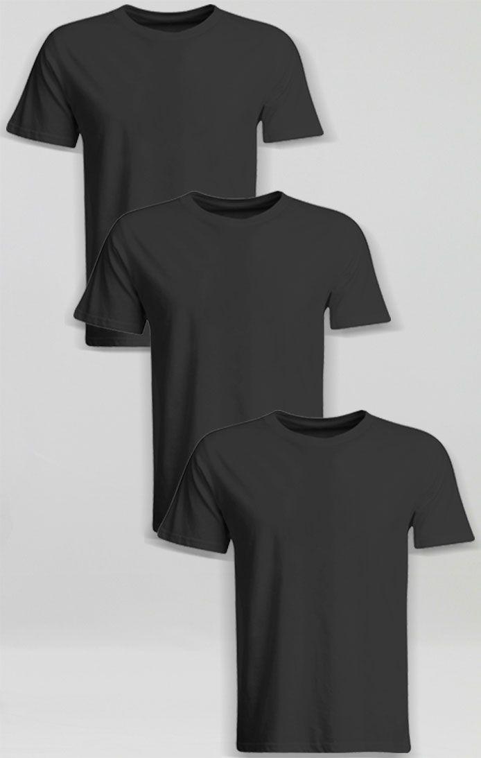 Camiseta Basica  Algodão - Preta