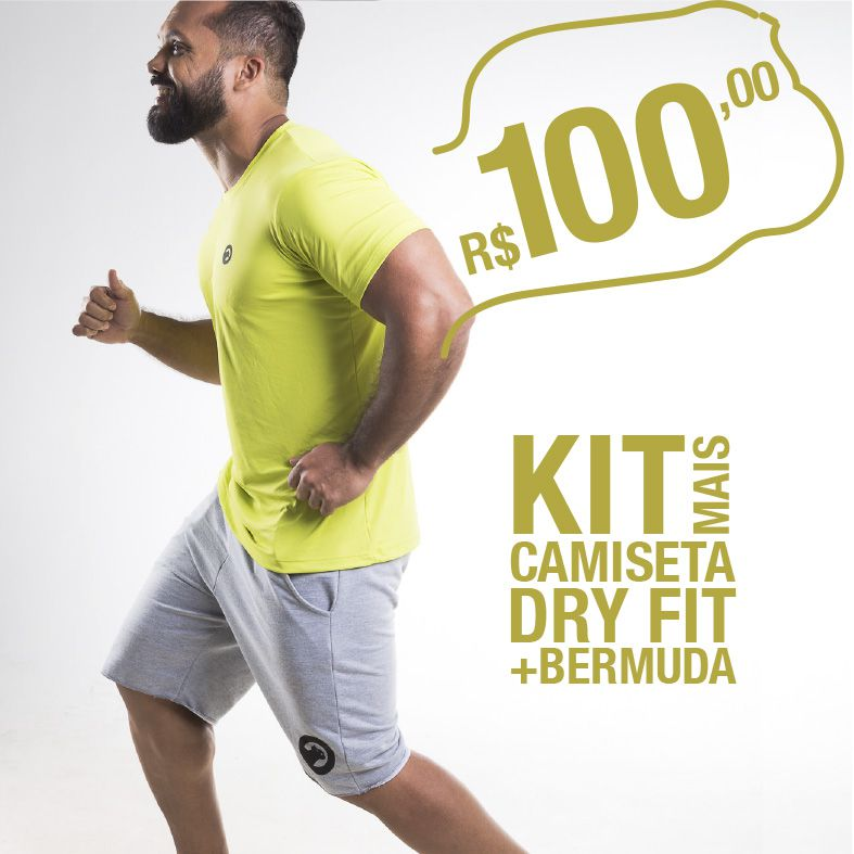 Kit Camiseta Dry Fit e Bermuda