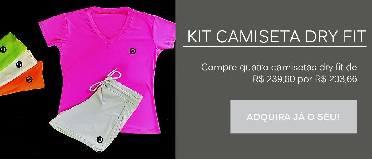 Kit Camiseta Dry Fit Feminina