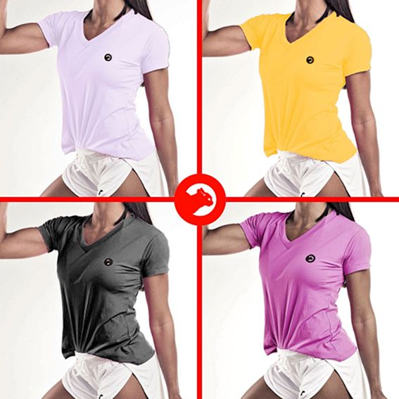 Kit 04 Camisetas Dry Fit Feminina