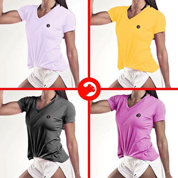 Kit 04 Camisetas Dry Fit Feminina