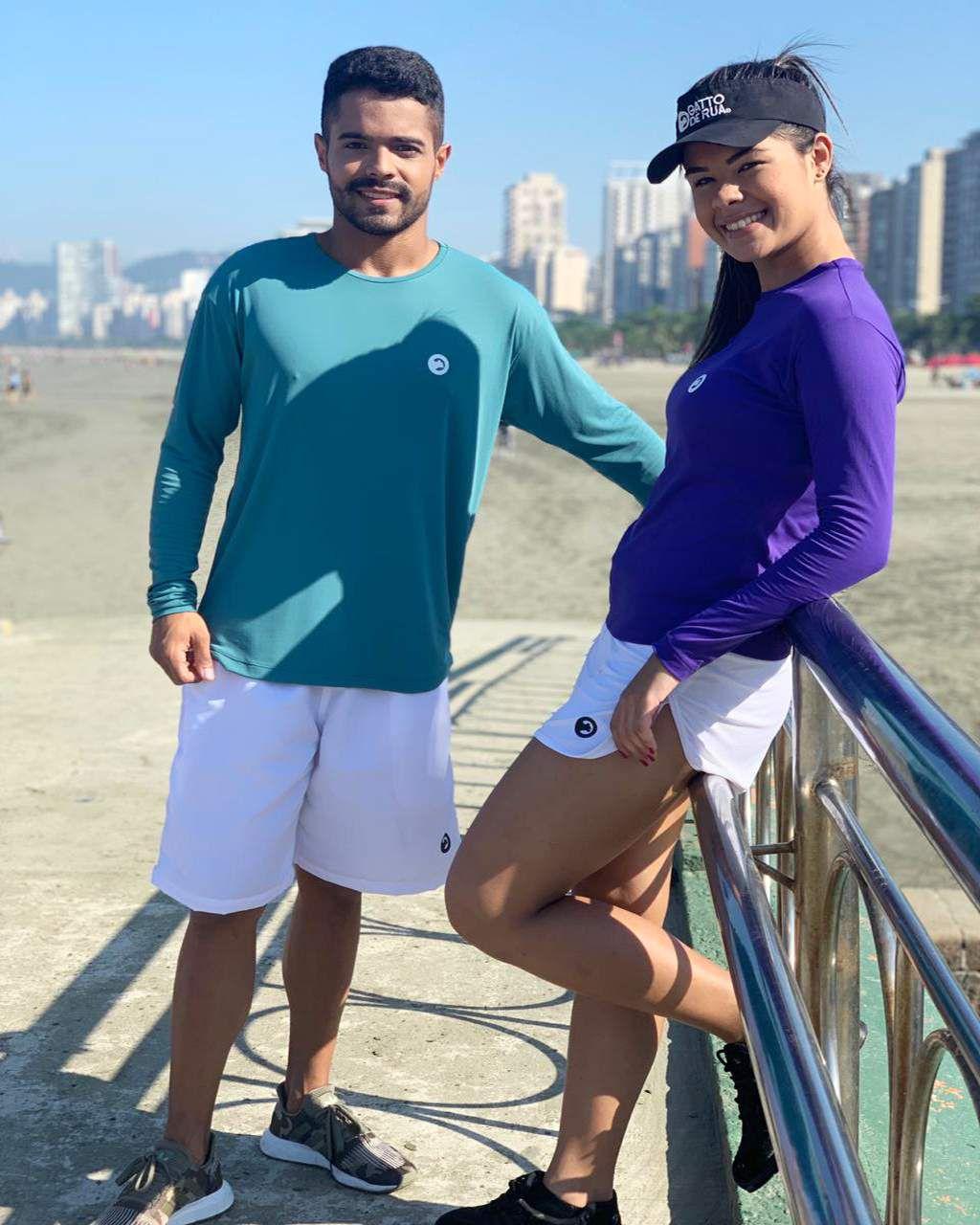Kit Camiseta UV contendo 01 masculina e 01 feminina