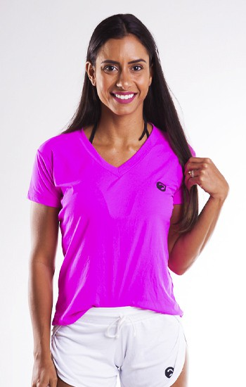 Kit Com 04 Camisetas Dry Fit Feminina Gatto de Rua