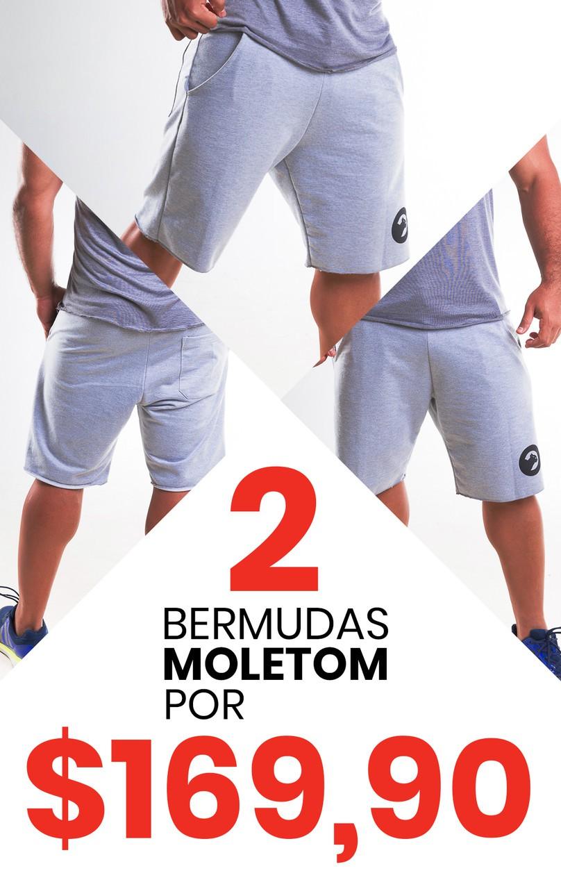 kit com 2 Bermudas de Moletom - Masculina