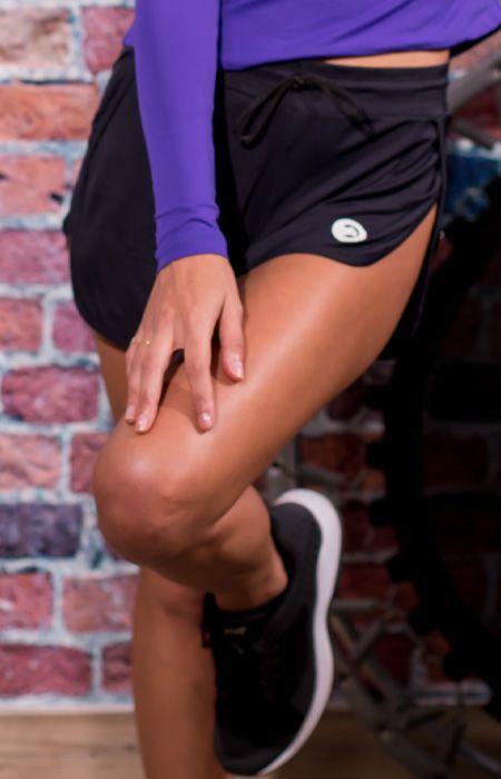 Shorts Dry Fit Abertura Lateral - Feminino