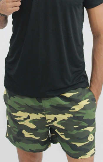 Shorts de Praia Camuflado Masculino
