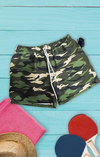 Shorts Masculino de Praia -  Camuflado