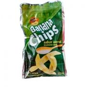 BANANA CHIPS LEVEMENTE SALGADA 50GR