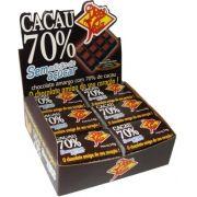 CHOCOLATE 70 % CACAU SEM AÇÚCAR  14GR DP 24 UNID