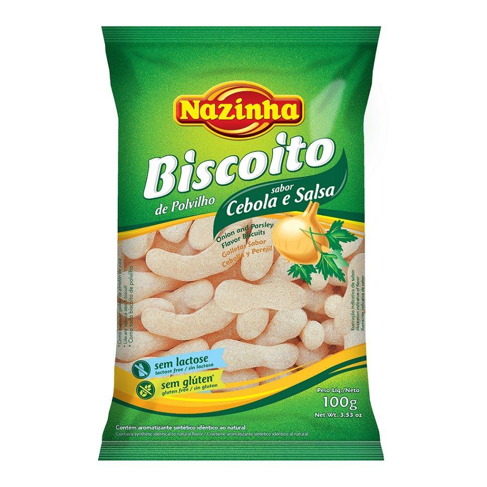 BISCOITO DE POLVILHO CEBOLA E SALSA 100GR