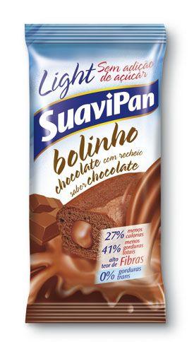 BOLINHO CHOCOLATE LIGHT SEM ADIÇÃO DE AÇÚCAR 40GR DP 12 UN