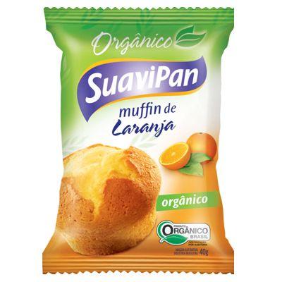 MUFFIN ORGÂNICO DE LARANJA 40GR DISPLAY 12 UN