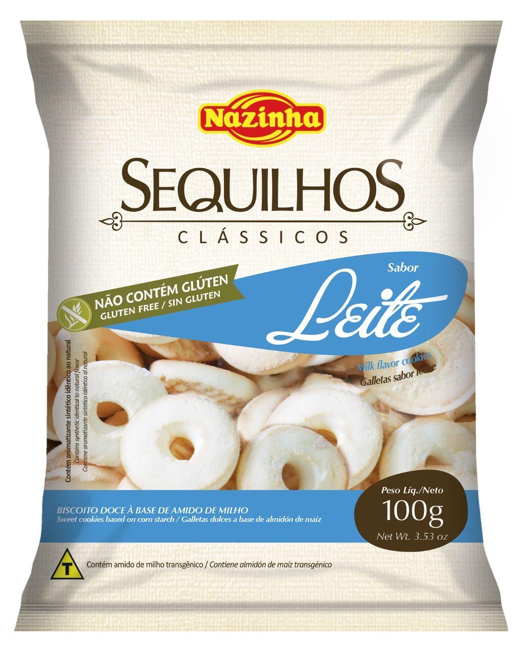 SEQUILHOS DE LEITE SEM GLÚTEN E SEM LACTOSE 100GR