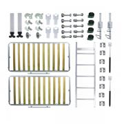 Kit de Ferragens Beliche Retrátil Linha Silver