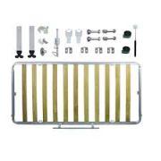 Kit de Ferragens Cama Retrátil Solteiro Horizontal - Isobed Linha Silver