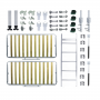 Kit de Ferragens Beliche Retrátil - Linha Silver - Isobed - Cama Retrátil