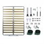 Kit de Ferragens Cama Retrátil Queen Size Vertical - COM estrado - Silver - Isobed