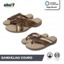 Sandália Masculina de Couro com Tiras - Magnética + Infravermelho Longo