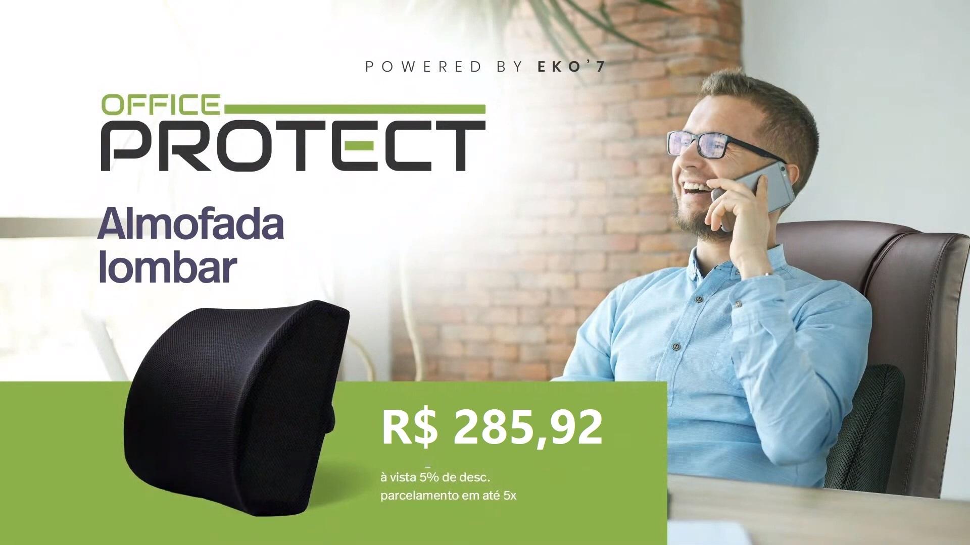 Almofada Lombar Office Protect Eko7 Saga Brasil