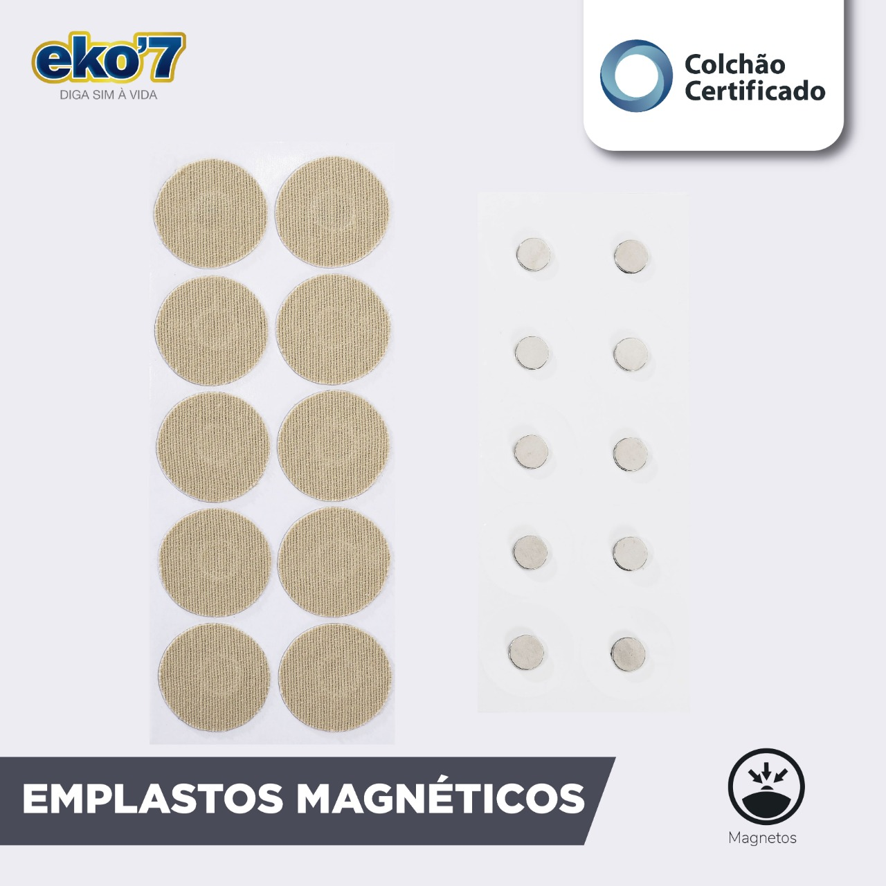 Caixa de Emplastos Magnéticos Reutilizáveis - 10 unidades