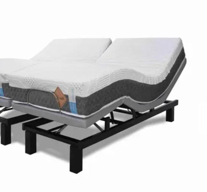 Cama Articulada Ergopedic+ Colchão 100% Látex 20cm - Solteiro