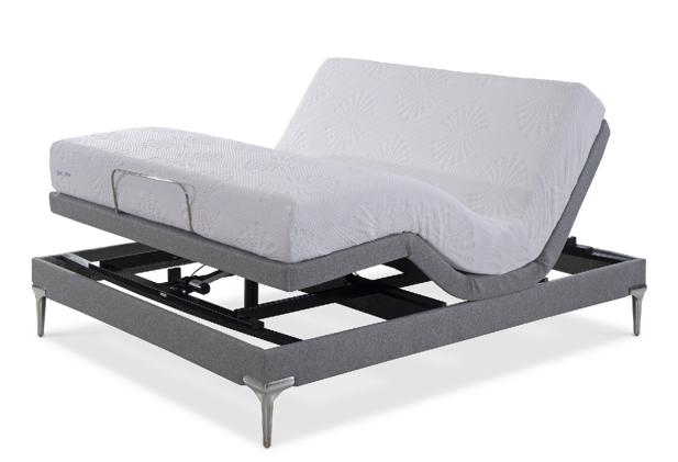 Cama Articulada Ergomotion Slim+ Revestida com Pés em Alumínio (T) - 42cm