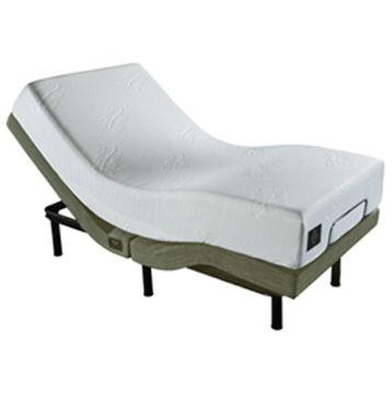 Cama Articulada Ergopedic King Koil  Linho Bege 193x203 + Colchão Latex  25 cm  de altura - Melhor preço do mercado