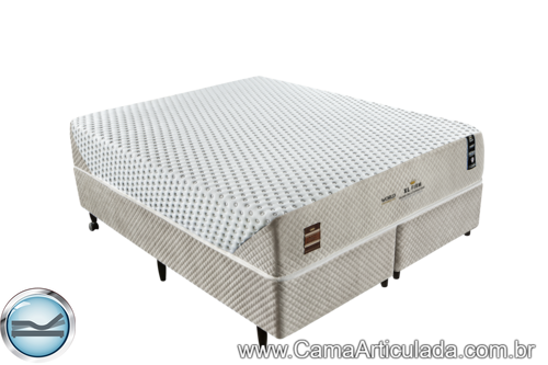Cama Box com Colchão de Molas King Koil XL Firm