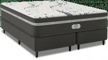 Cama Box com Colchão de Molas Latex Simmons Beautysleep Bioceramics Oxygen