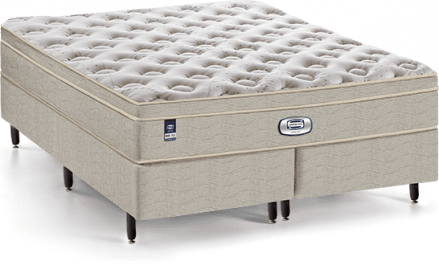 Cama Box com Colchão de Molas Simmons Georgia - Beautyrest Plush