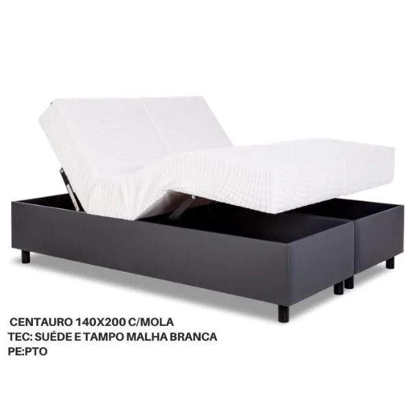 Cama Sommier Centauro Casal com Colchão Acoplado + Baú