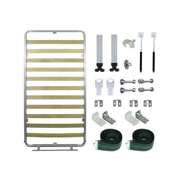 Kit de Ferragens Cama Retrátil Solteiro Vertical - Linha Silver
