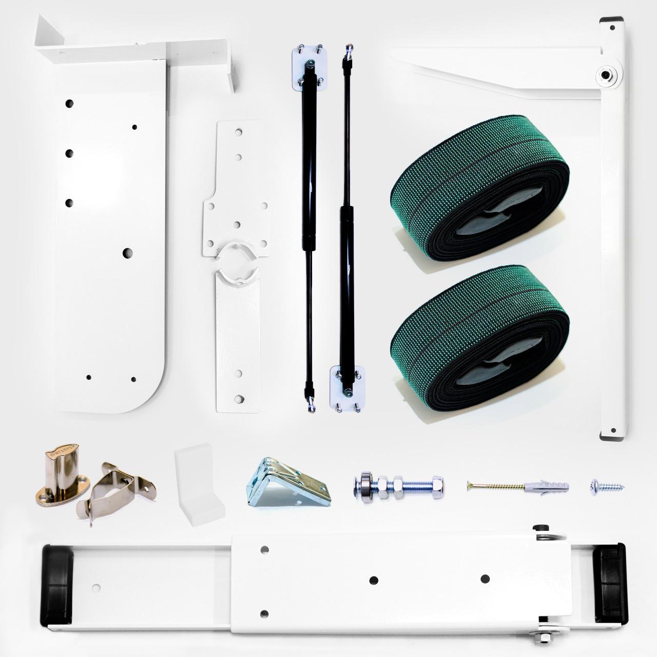 Kit de Ferragens Isobed - Cama Retrátil Casal Vertical - Linha New White