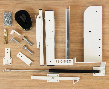 Kit de Ferragens - Solteiro Horizontal - Linha New White - Isobed - Cama Retrátil