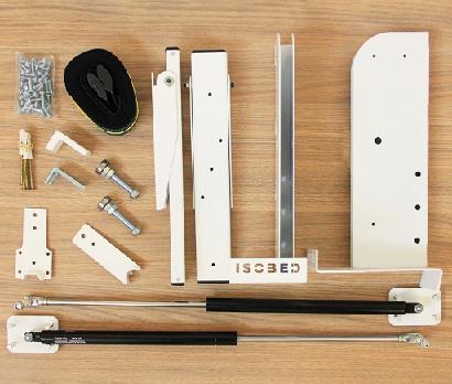 Kit de Ferragens Isobed - Cama Retrátil Solteiro Vertical - Linha New White
