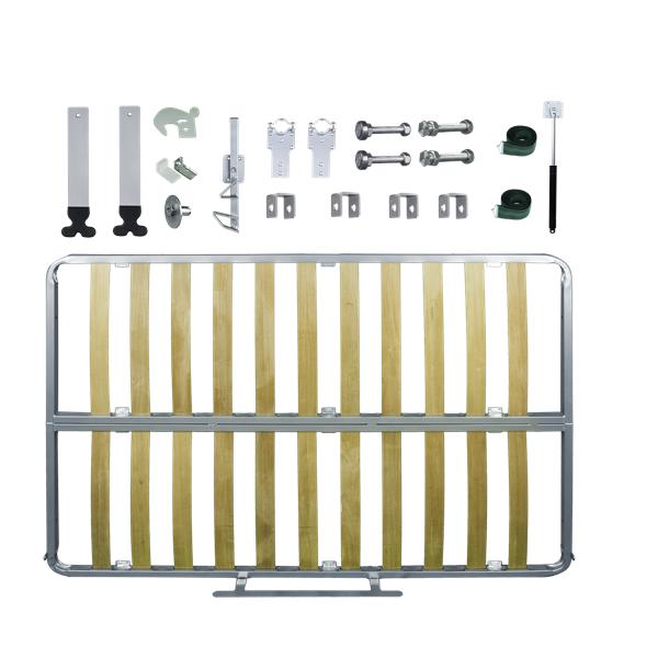 Kit de Ferragens Casal Horizontal - Linha Silver - Isobed - Cama Retrátil
