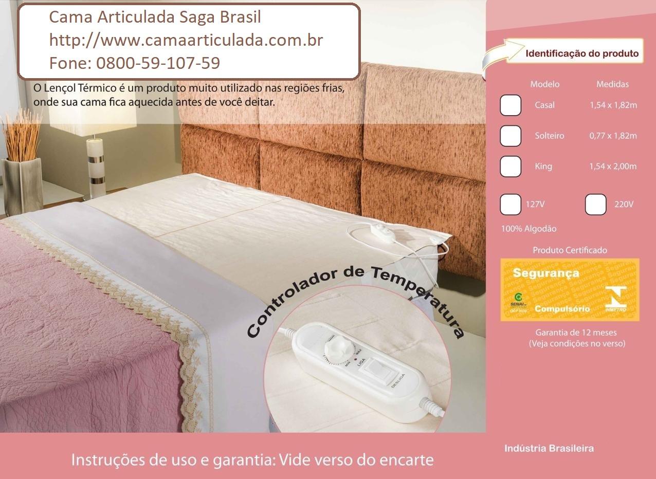 Lençol Térmico Saga Brasil - Sono Quente